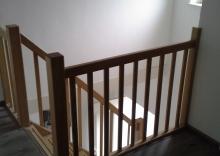 Eiken trap met grove spijlen for Trap maken bereken